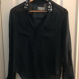 Abercrombie & Fitch long sleeved sheer shirt